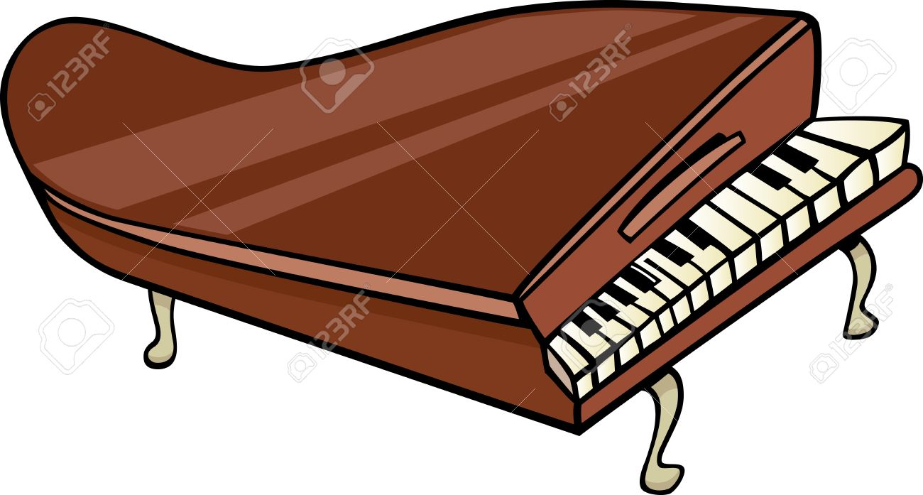 Inside a Piano Clip Art.