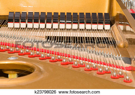 Stock Images of Inside Baby Grand Piano k23798026.
