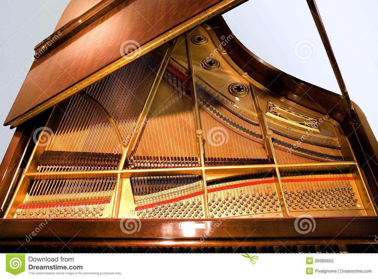 Baby Grand Piano Royalty Free Stock Photo.