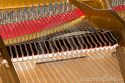 Inside Baby Grand Piano Stock Images.
