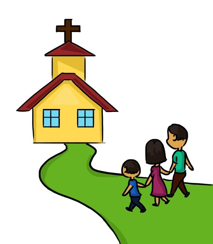 Child Praying In Church Clipart.