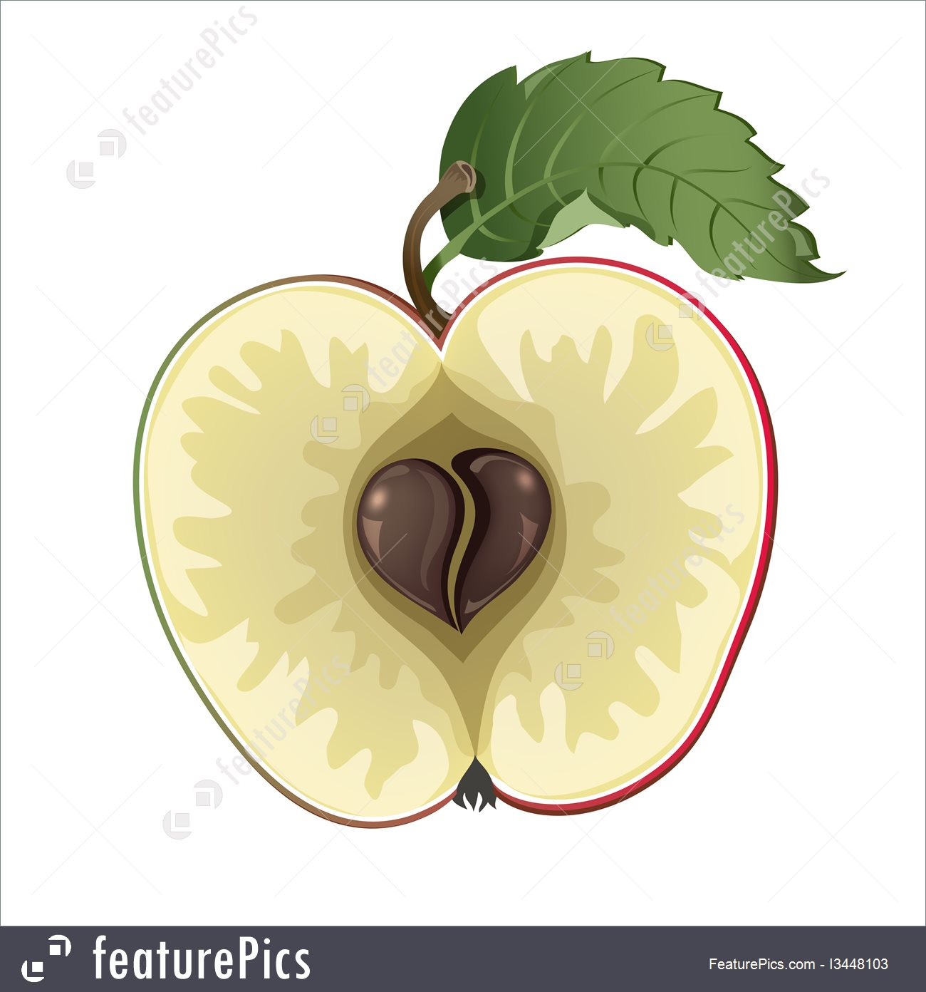 Food: Apple With Heart.