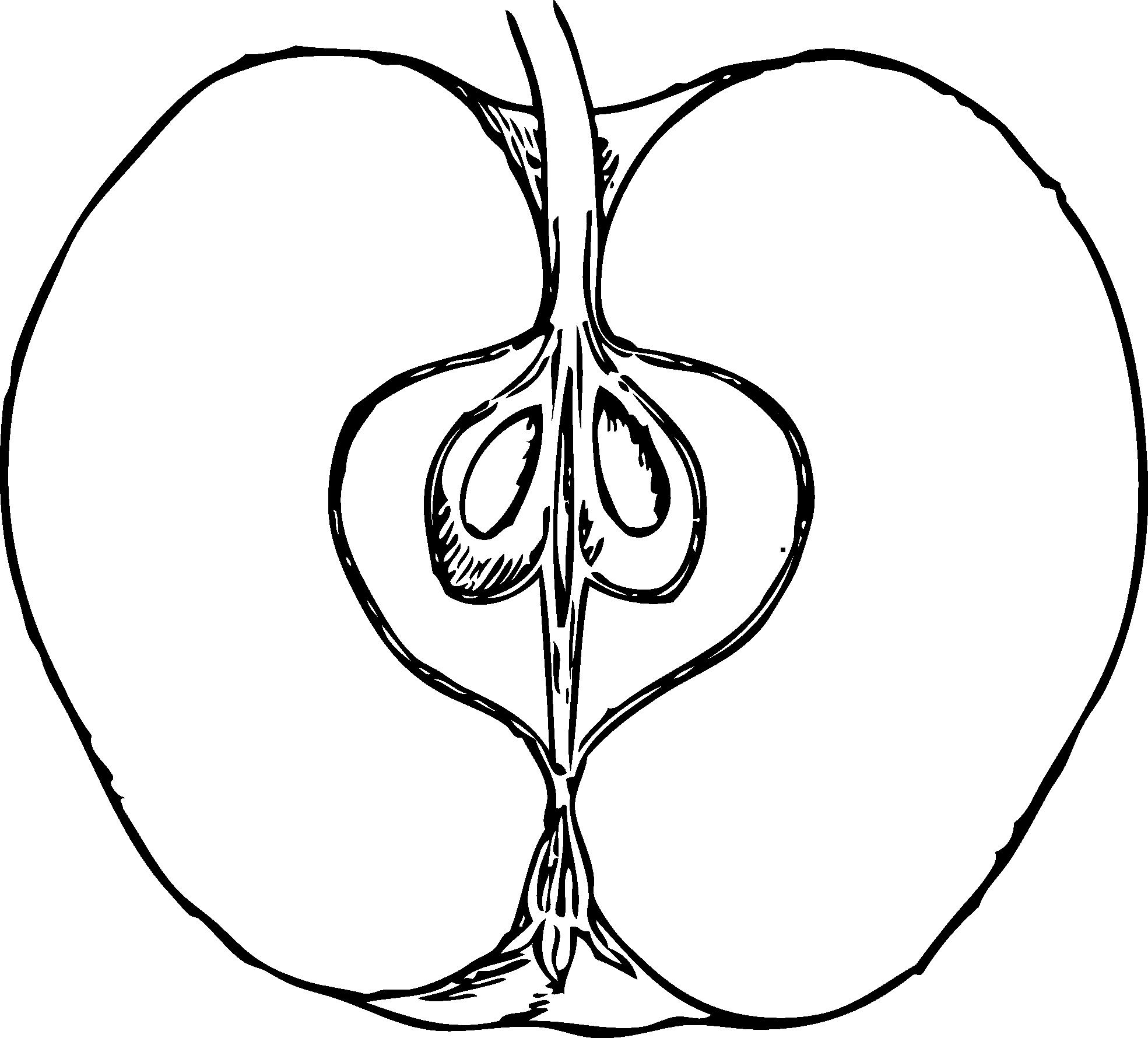 Apple Clip Art Black Background.