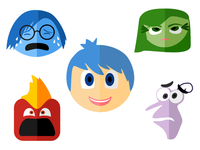 Clipart animated character icon inside out.
