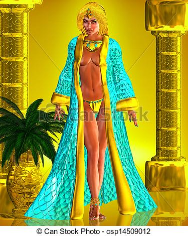 Clipart of Insight Of A Seductress.