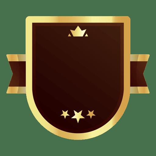 Golden badge.