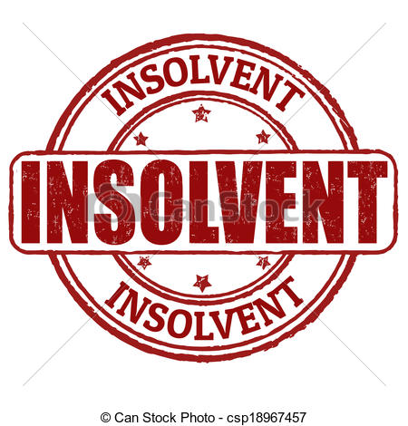 Clipart Vector of Insolvent stamp.