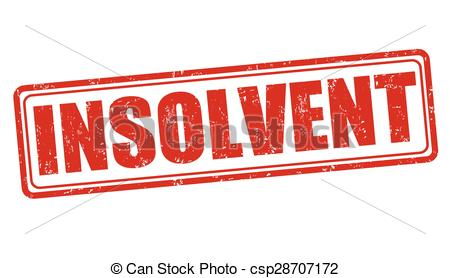 Vectors Illustration of Insolvent stamp.