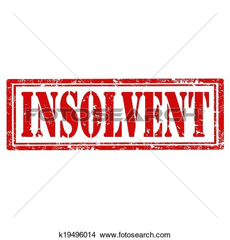 Clipart of Insolvent.