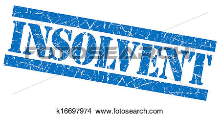 Drawings of Insolvent grunge blue stamp k16697974.