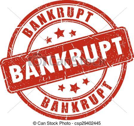 EPS Vector of Bankrupt stamp.