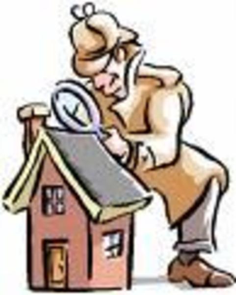Clip Art Inspecting Home Full.