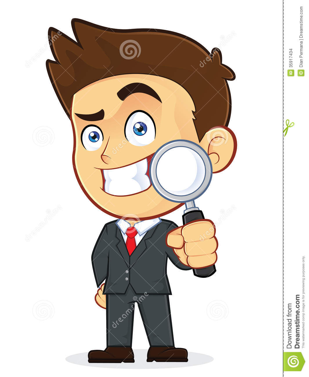 Animated Inspector Clipart.