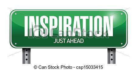 Vector Clip Art of inspiration road sign illustration design over.
