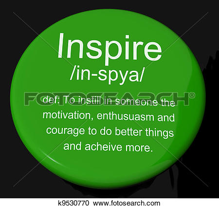 Stock Illustration of Encourage Definition Button Shows Motivation.