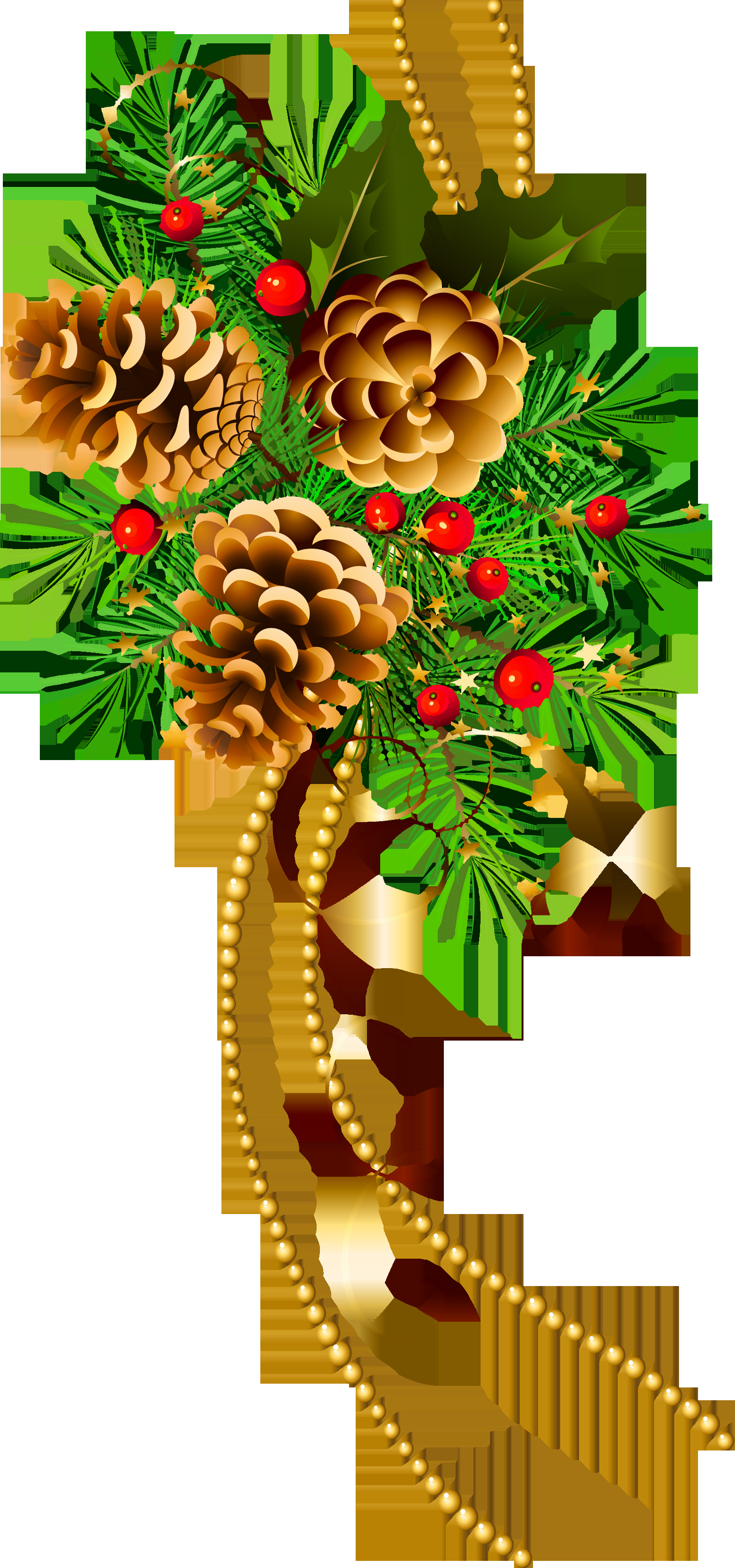 Happy Holiday Clip Art Inspirational Pine and Pine Cones Christmas.