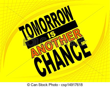 Vector Clip Art of Another chance.