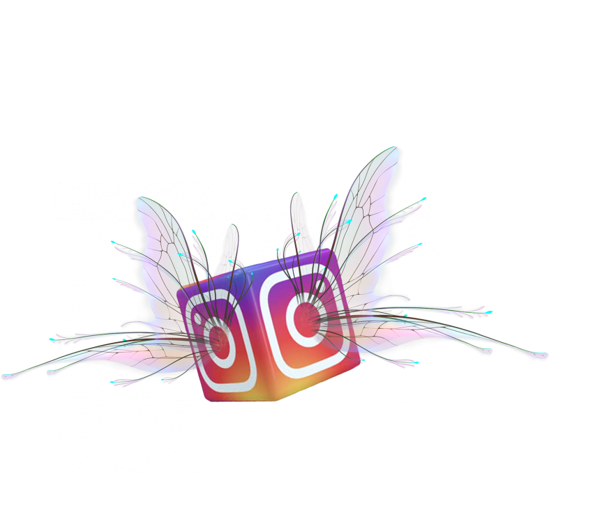 Instagram Flying Wing PNG Vector HD.