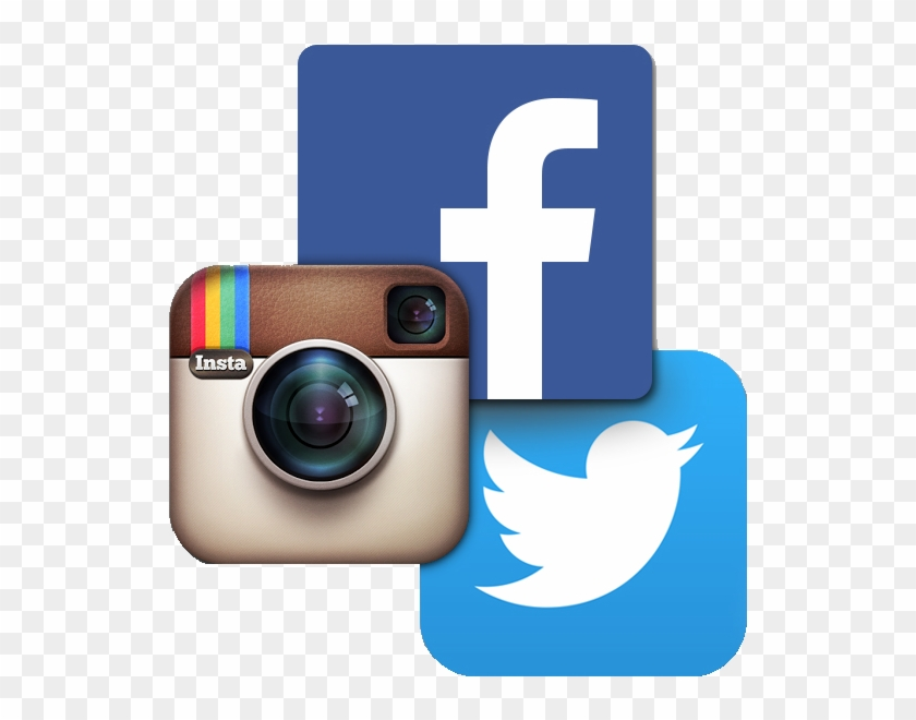 Instagram Facebook And Twitter Icons , Png Download.