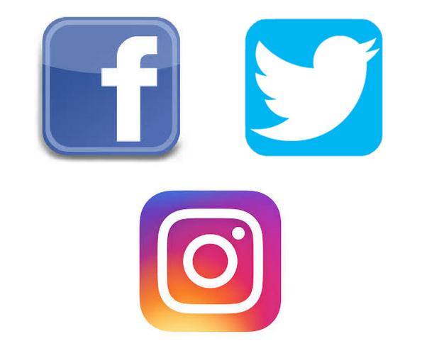Facebook Twitter Instagram Icon #237101.