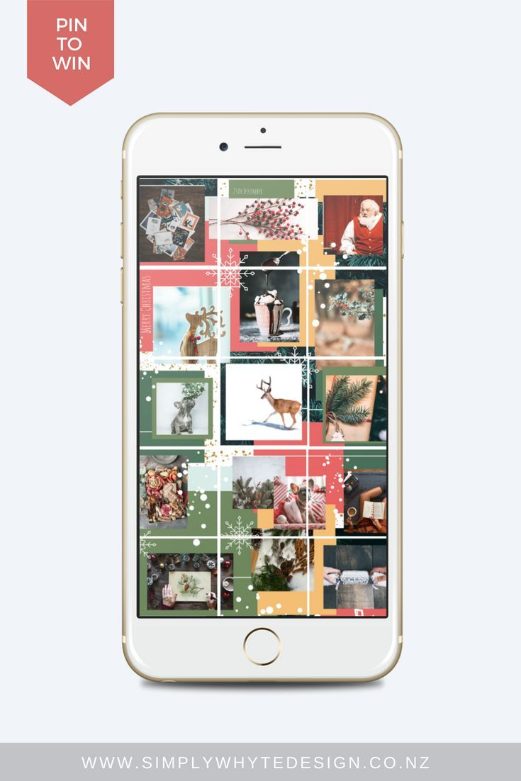 Christmas Instagram puzzle feed without photoshop template.
