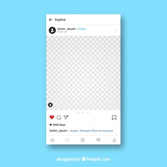 Instagram Layout Vectors, Photos and PSD files.