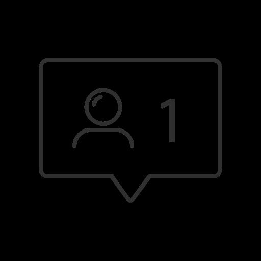 Follow, instagram, notifications, user icon.