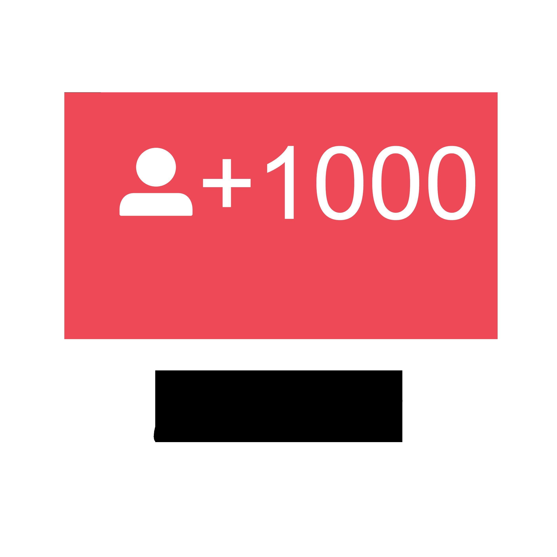 1.000 Instagram Followers.