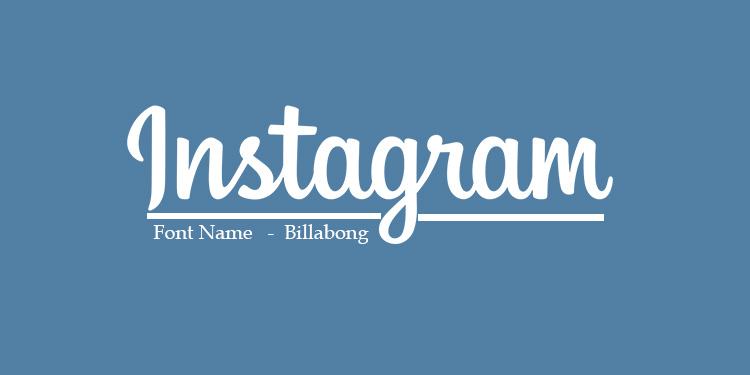 Instagram Font.
