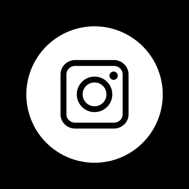 Instagram White Icon, Circle, Camera Icon, Line Art PNG Transparent.