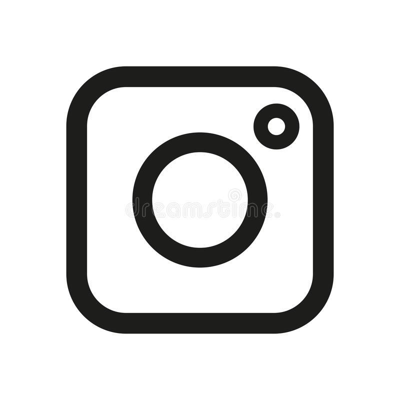 Instagram Icons Stock Illustrations.