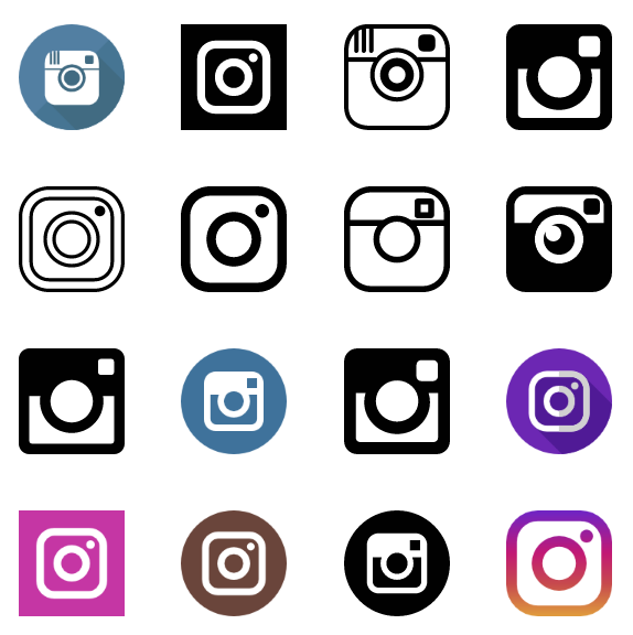 60 Instagram icons vector (,EPS + SVG) for free download.