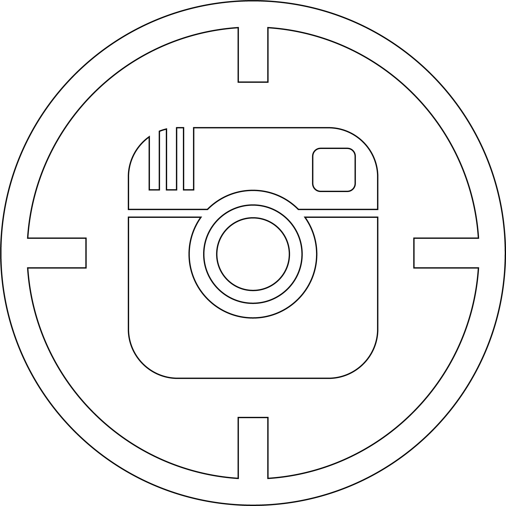 HD Instagram Icon For Twitch , Png Download.