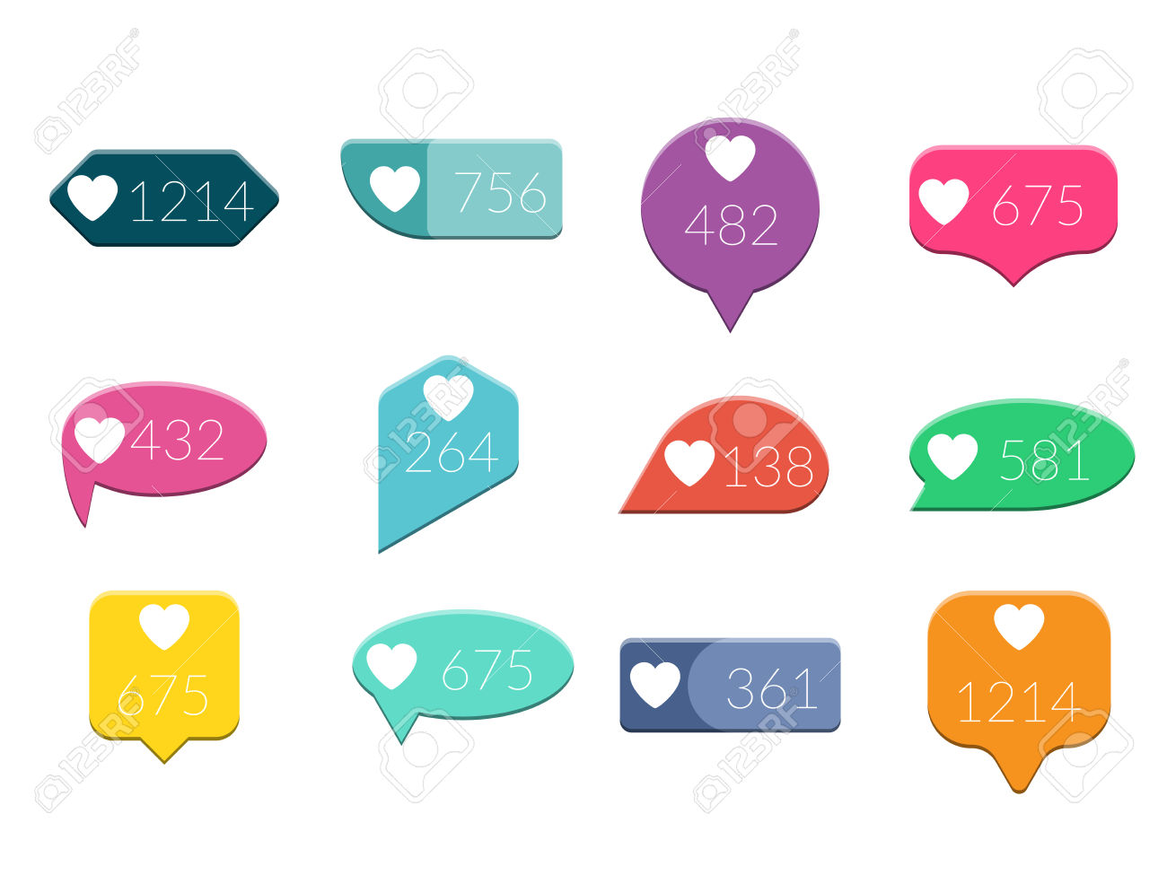 237 Like Instagram Stock Vector Illustration And Royalty Free Like.