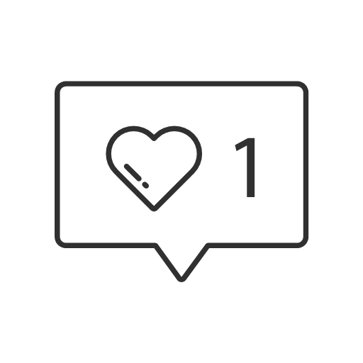 like notification one like icon.