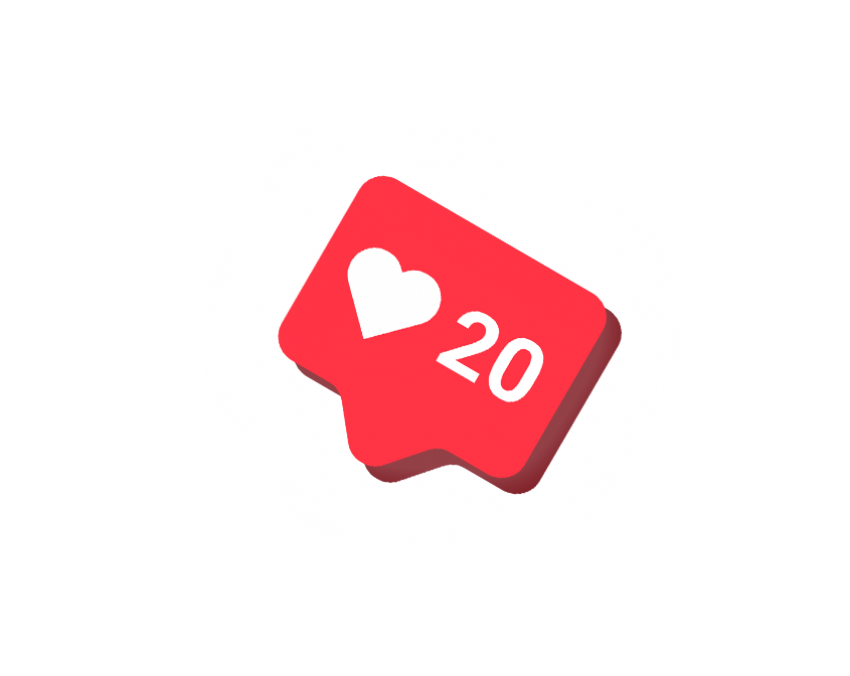 Instagram Like Button PNG HD.