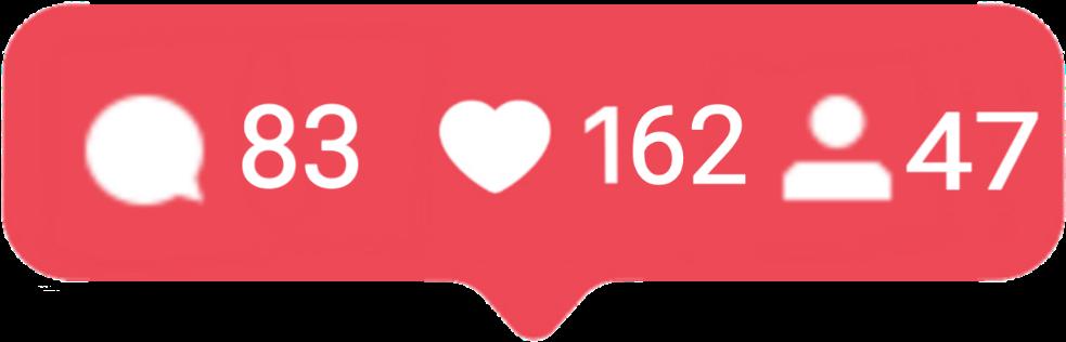 HD Instagram Like Notification Png.
