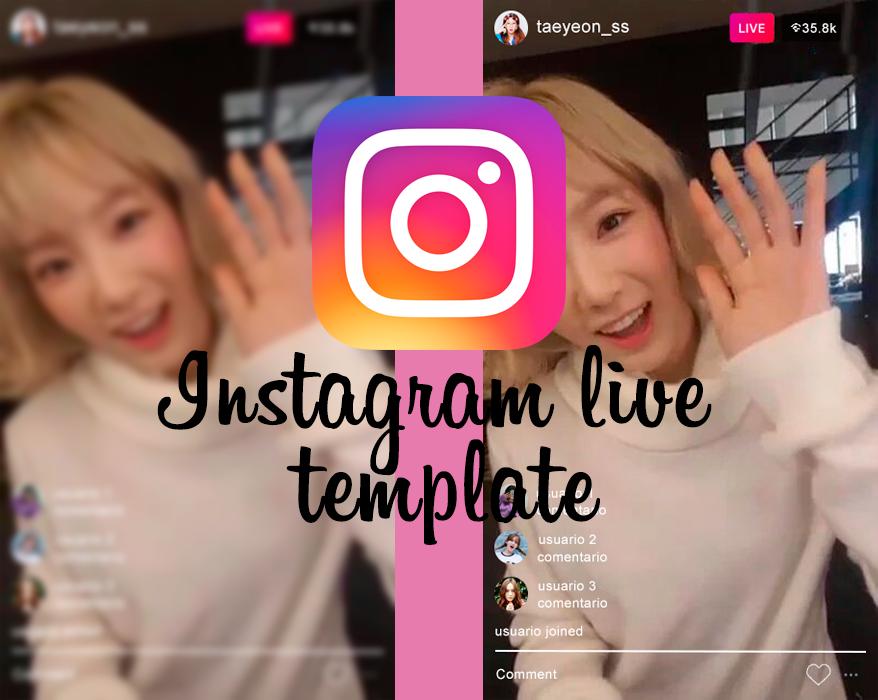 Template Instagram Live by vousmevoyezart on DeviantArt.