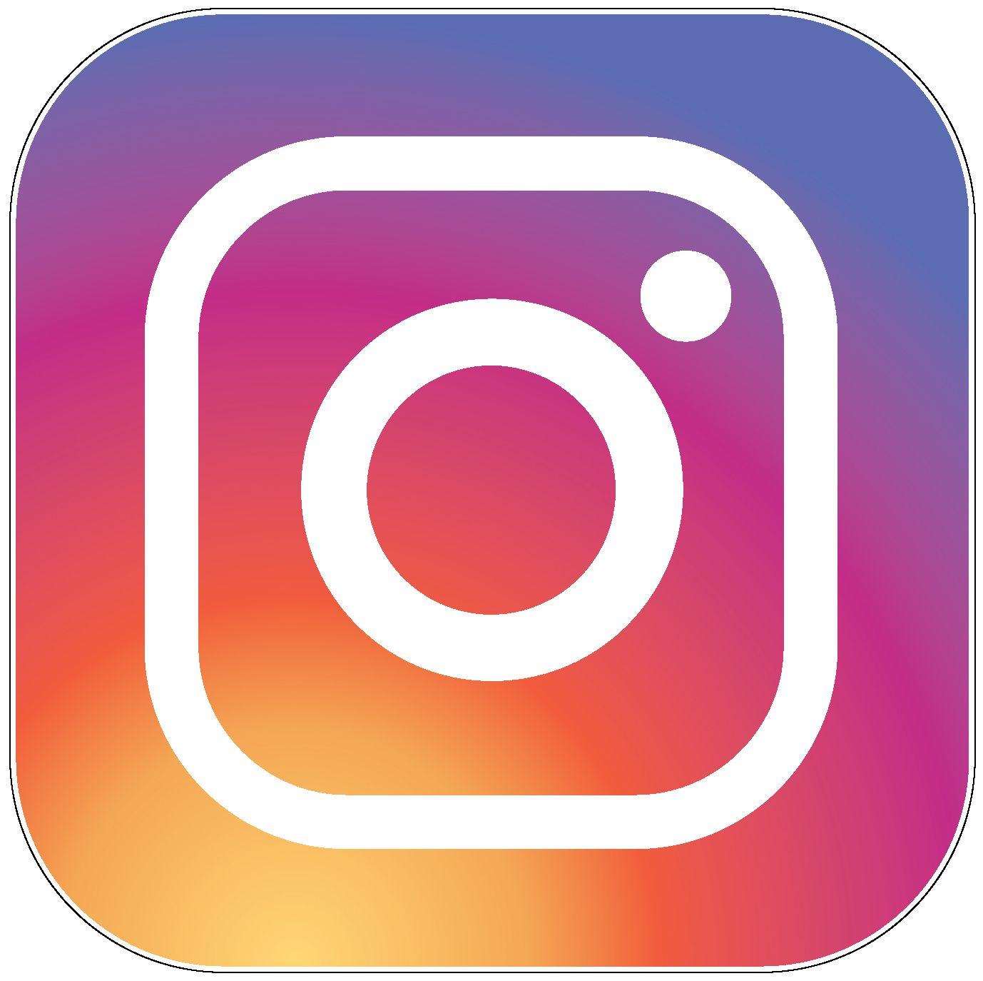 New Instagram Logo Vinyl Sticker (printed vinyl decal.