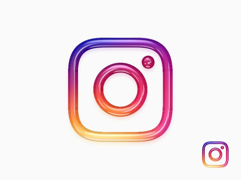 New Instagram 3D Logo / App Icon by SpeedPage.pro on Dribbble.
