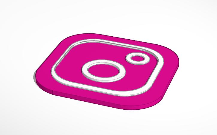 3D design instagram logo.