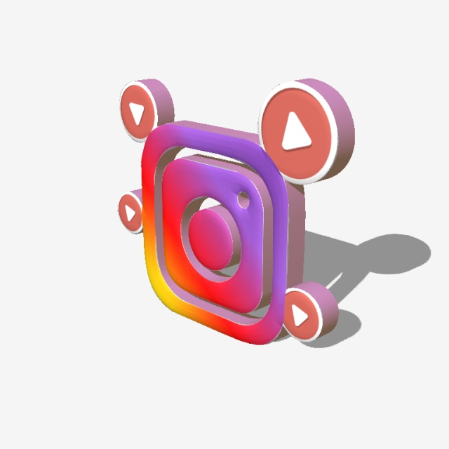 3d инстаграм, Instagram, Smm, Logo PNG and Vector with Transparent.