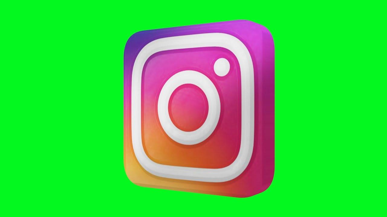 Instagram NEW Logo Green Screen Animated 3D.