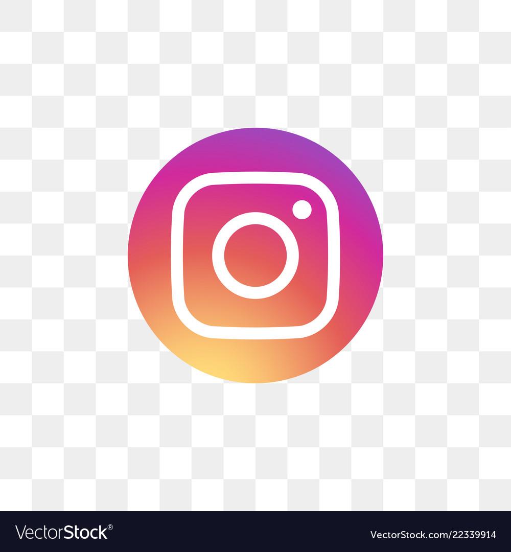 Instagram social media icon design template.