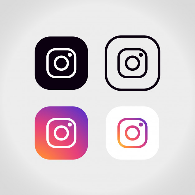 Instagram logo collection Vector.