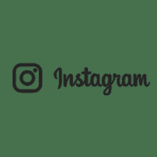 Instagram silhouette stroke logo.