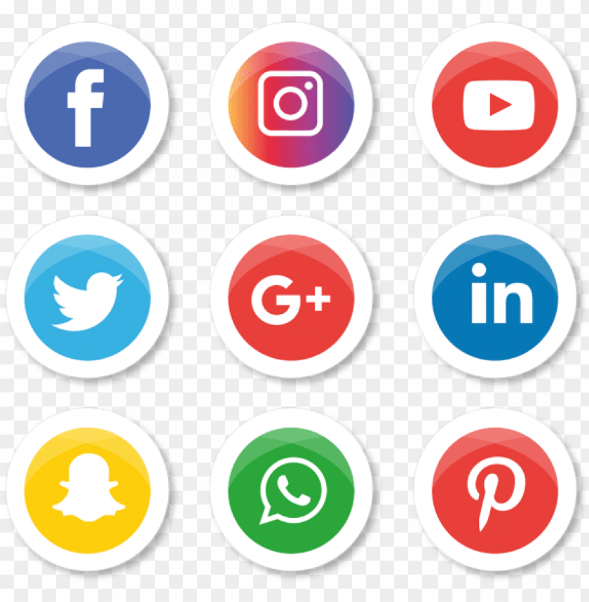 whatsapp facebook instagram logo PNG image with transparent.