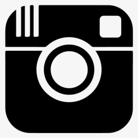 Instagram Icon Glyph Black Silhouette Vector Logo.
