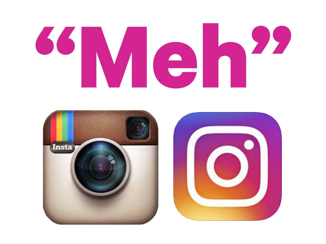 Instagram\'s new logo is \'not a big deal\'.