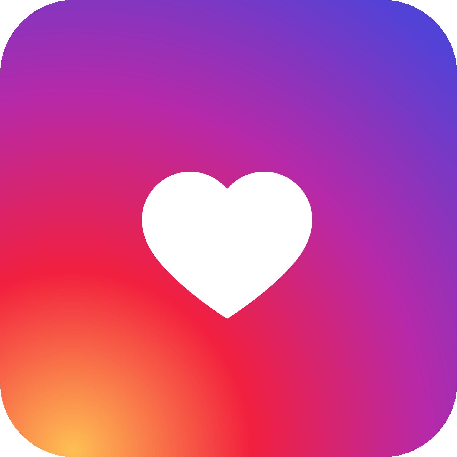 Instagram Heart PNG Images.